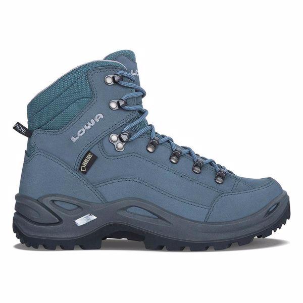 cc8e03c02160 Dámske turistické topánky LOWA RENEGADE GTX MID WS Grey Blue