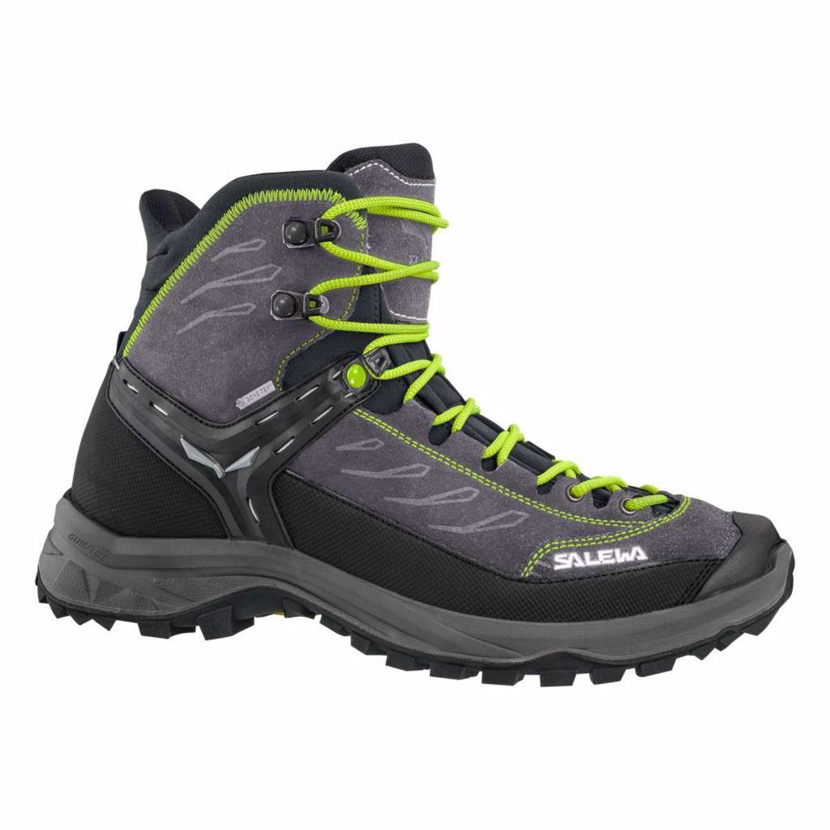 Pánske turistické topánky SALEWA MS HIKE TRAINER MID GTX Black Out Green 17baf7f3e1